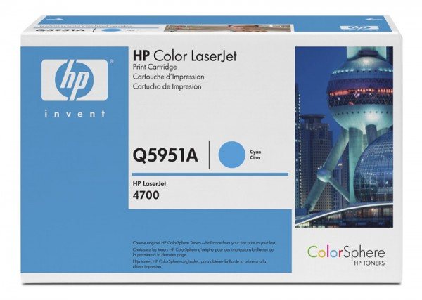 Тонер картридж HP Q5951A cyan for Color LaserJet 4700