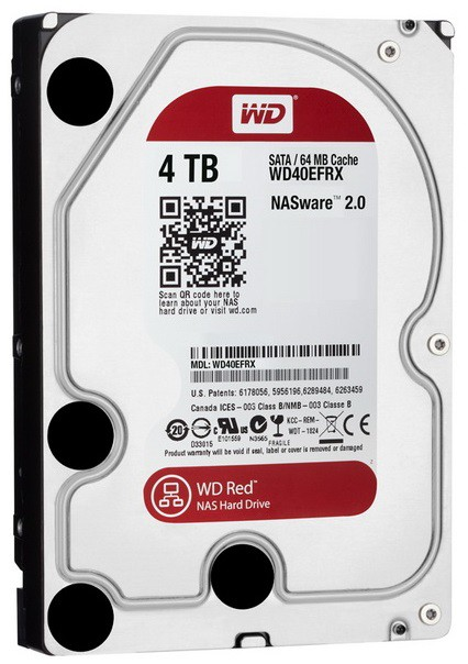 Жесткий диск WD Original SATA-III 4Tb WD40EFRX Red (5400rpm) 64Mb 3.5""
