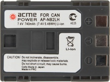 Аккумулятор ACME POWER AP-NB-2L для CANON (7.4V, 740 mAh, Li-ion)