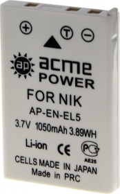 Аккумулятор ACME POWER AP-EN-EL5 для NIKON (3.7V,1050mAh, Li-ion)