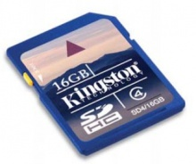 Флеш карта SDHC 16Gb Kingston class4 (SD4/16GB)