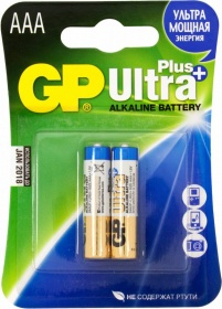 Батарея GP Ultra Plus Alkaline 24AUP LR03 AAA (2шт. уп)