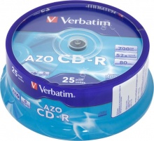 Диск CD-R Verbatim 700Mb 52x DataLife+ Cake Box (25шт) 43352