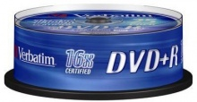 Диск DVD+R Verbatim 4.7Gb 16x Cake Box (25шт) 43500