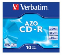 Диск CD-R Verbatim 700Mb 52x DataLife+ Jewel Case (10шт) 43327