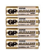 Батарея GP Super Alkaline 15ARS (в спайке) LR6 AA (4шт. уп)