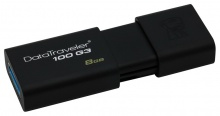 Флеш Диск Kingston 8Gb DataTraveler 100 G3 DT100G3/8GB USB3.0 черный