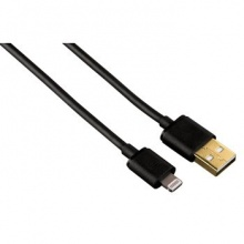 Кабель Hama Gold Lightning MFi-USB черный 1.5м для Apple iPhone 5/5c/5S (00102094)