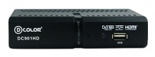 Ресивер DVB-T2 D-Color DC901HD черный
