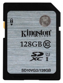Флеш карта SDXC 128Gb Class10 Kingston SD10VG2/128GB
