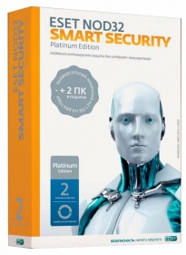 ПО Eset NOD32 Smart Security Platinum Edition - лиц на 2 года на 3ПК, BOX (NOD32-ESS-NS(BOX)-2-1) (2