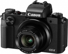 "Фотоаппарат Canon PowerShot G5 X черный 20.2Mpix Zoom4.2x 3"" 1080p SDXC/SD/SDHC CMOS IS opt 5minF ro"