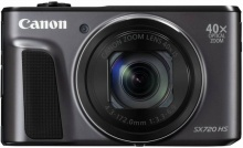 "Фотоаппарат Canon PowerShot SX720HS черный 21.1Mpix Zoom40x 3"" 1080p SDXC/SD/SDHC CMOS 1x2.3 IS opt"