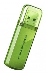 Флеш Диск Silicon Power 4Gb Helios 101 SP004GBUF2101V1N USB2.0 зеленый
