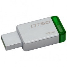 Флеш Диск Kingston 16Gb DataTraveler 50 DT50/16GB USB3.0 зеленый