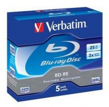 Диск BD-RE Verbatim 25Gb 2x Jewel Case (5шт) 43615
